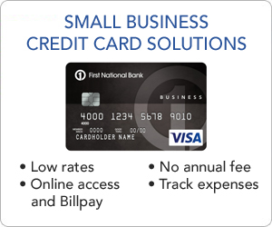 Small business first national bank for Credit card small business