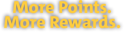 More Points. More Rewards. With your Speedy Rewards Mastercard