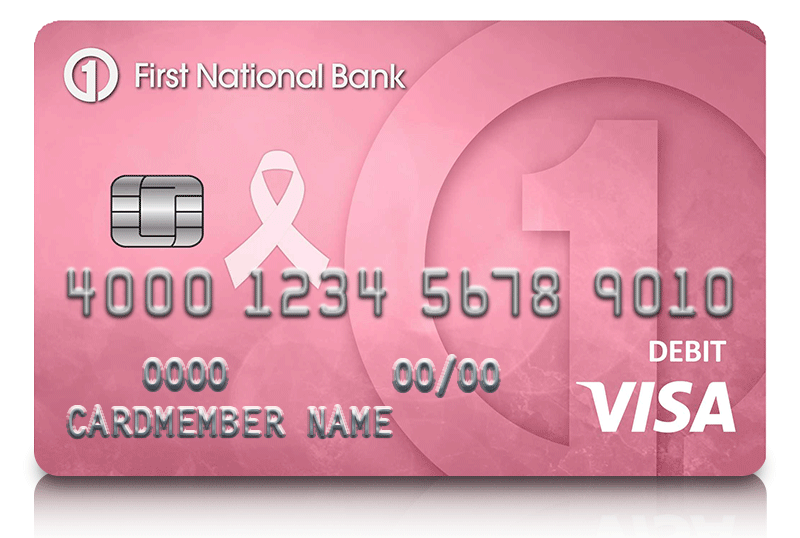 Pink Visa Debit Card