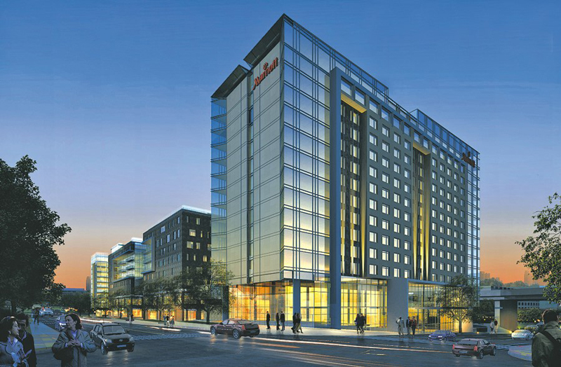 Capitol District Marriott Hotel in Omaha Nebraska