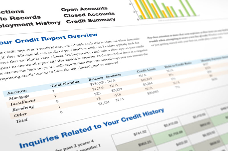 A credit report overview